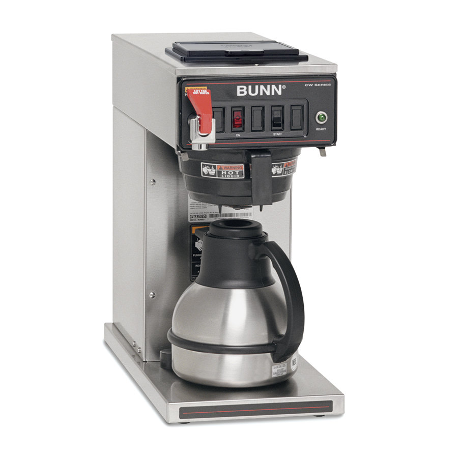 Bunn Coffee Maker Filter Overflows : Bunn CWTF15-TC Thermal Carafe Coffee Brewer - Automatic 120V (Bunn 12950.0360)