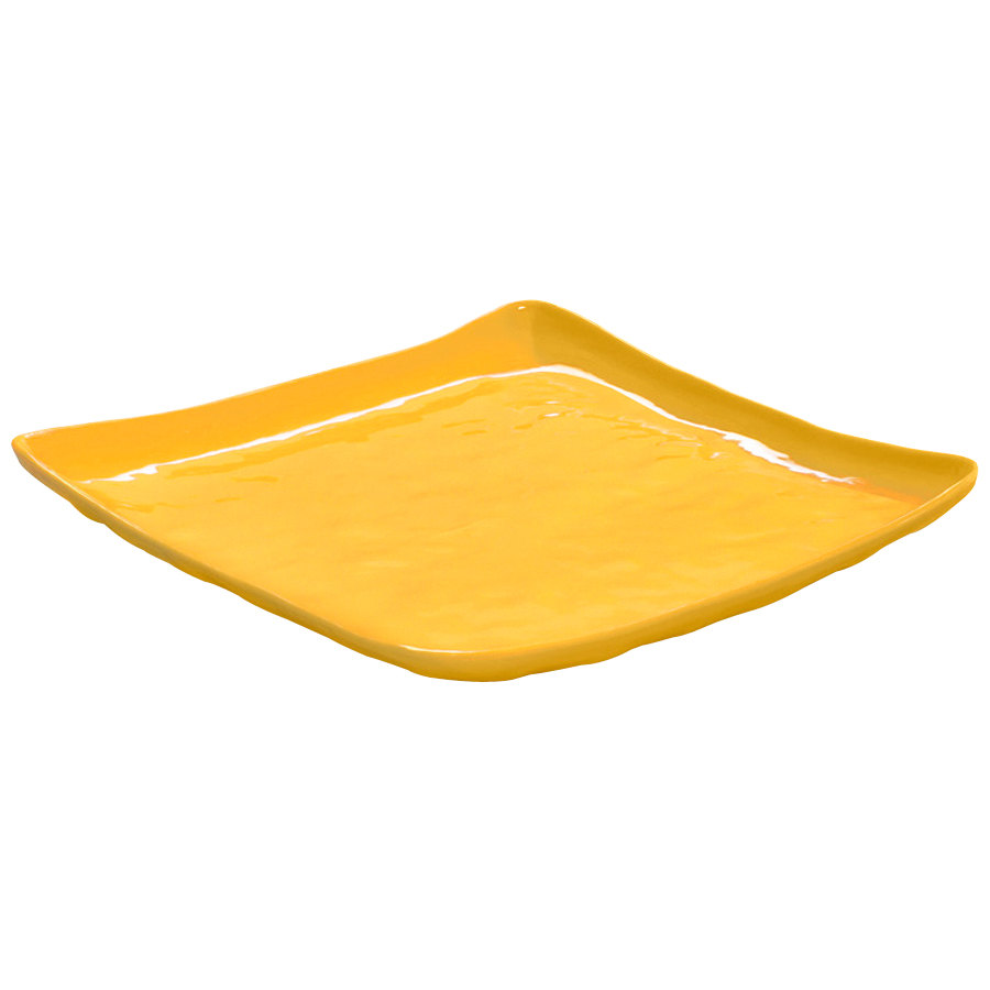 "GET ML-147-TY New Yorker 13 3/4"" Square Plate - Tropical Yellow"