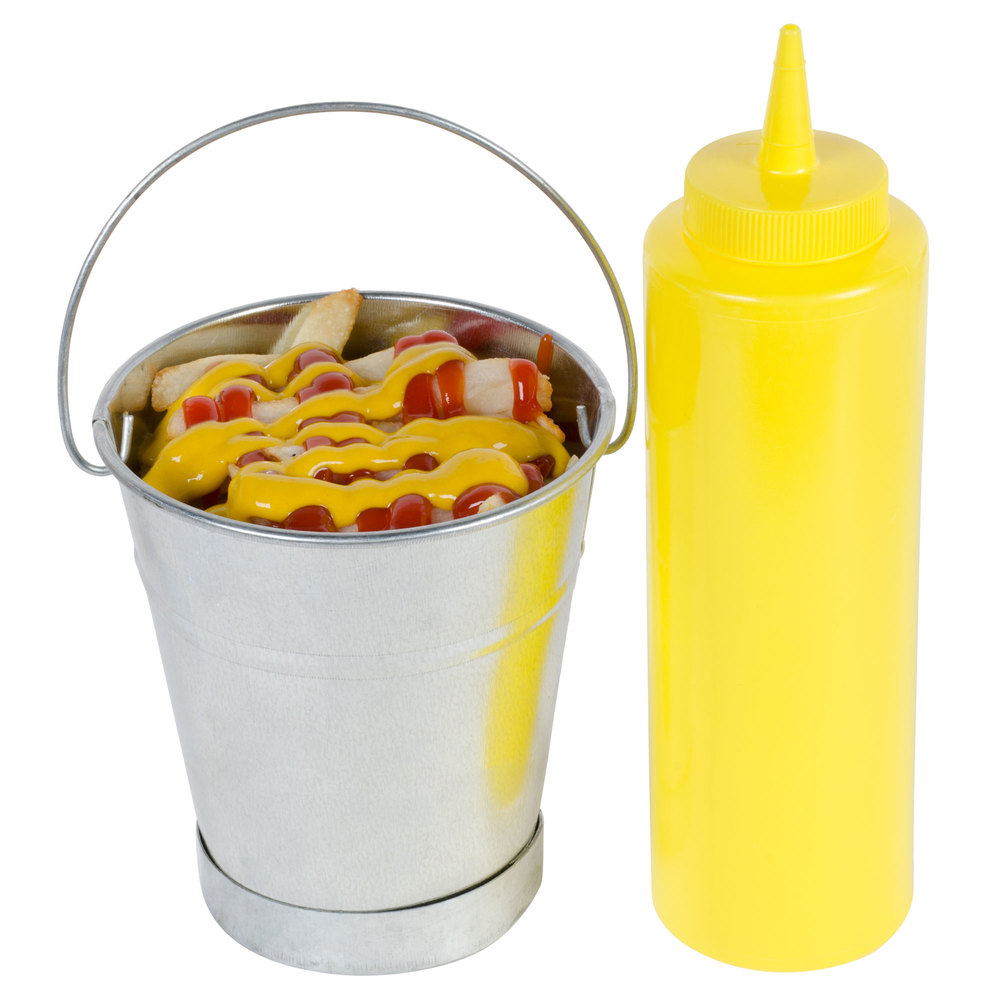 8 oz. Yellow Squeeze Bottle - 6/Pack