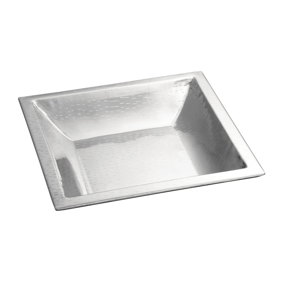 Tablecraft RB1919 Remington 19 1/2 inch x 19 1/2 inch Square Stainless Steel Bowl