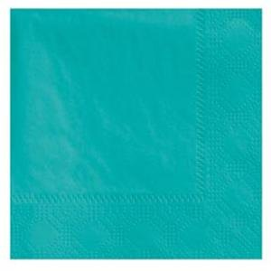 Hoffmaster 180301 Teal Beverage / Cocktail Napkin - 1000 / Case