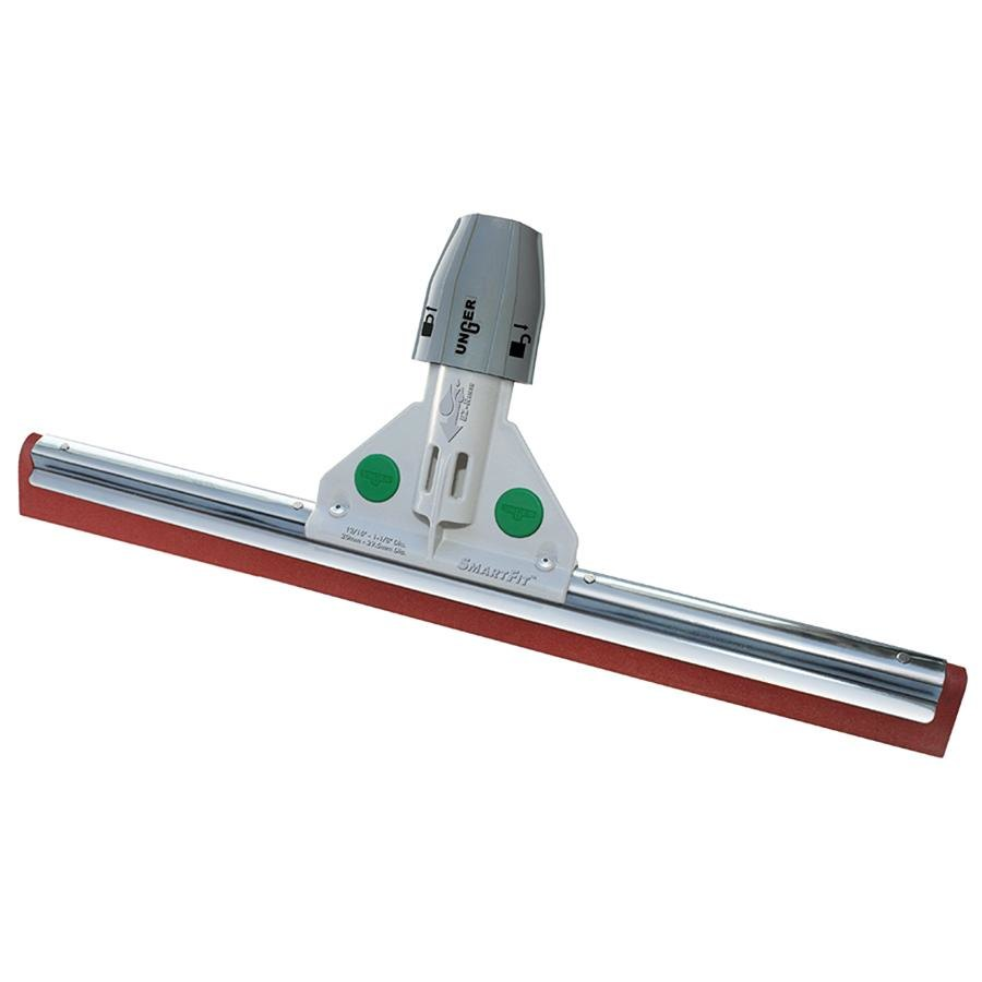 "Unger HW30A SmartFit WaterWand 30"" Heavy Duty Red Floor Squeegee with SmartColor System"