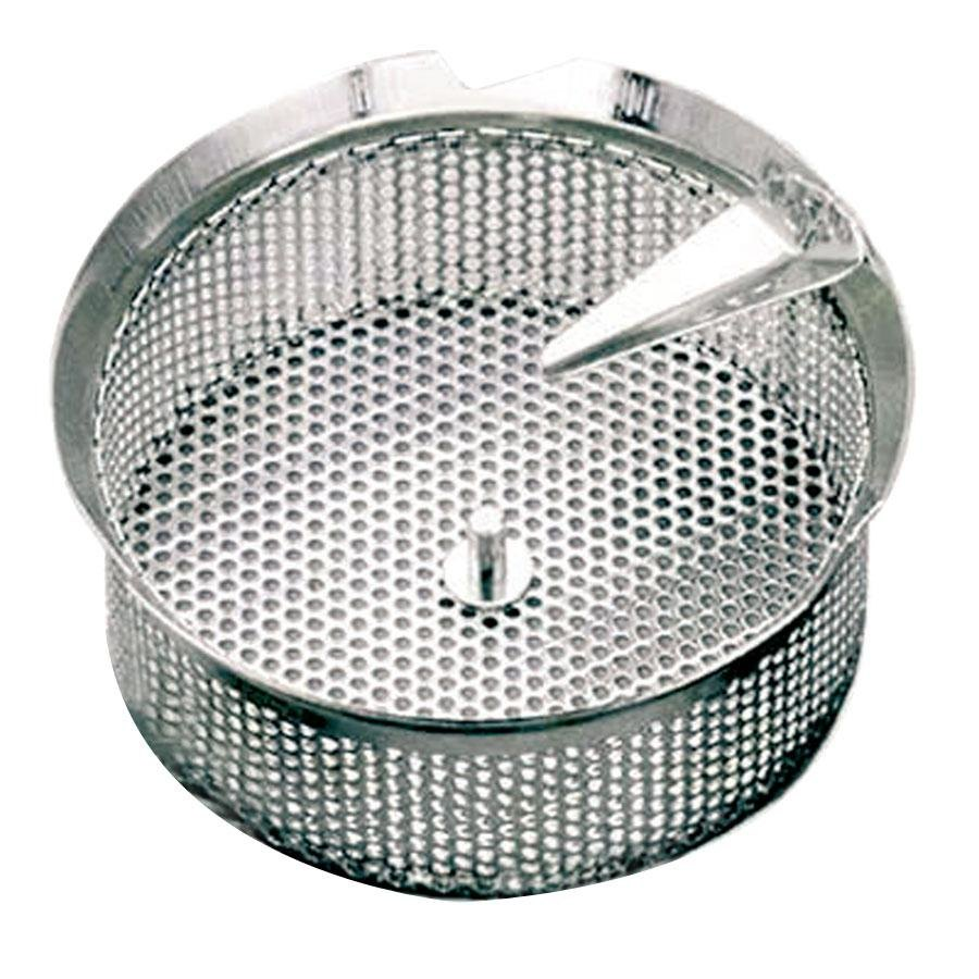 "Tellier P10040 5/32"" Perforated Replacement Sieve for 15 Qt. Food Mill on Stand - Tinned Steel"