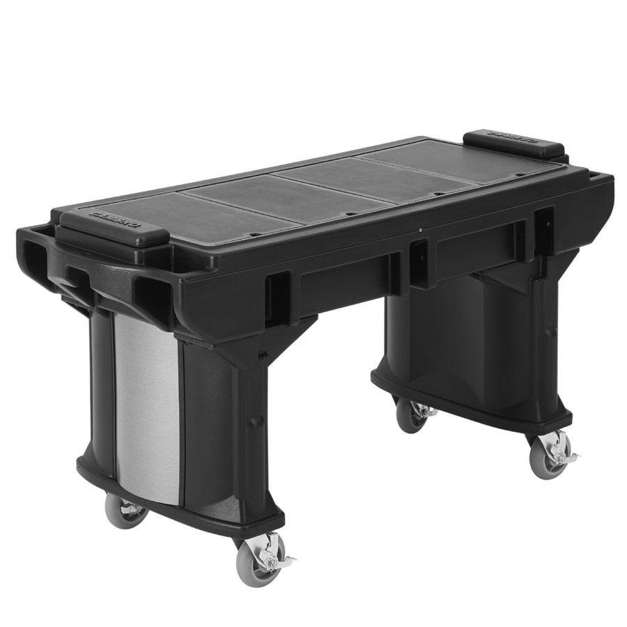 Cambro VBRTL5110 Black 5' Versa Work Table with Standard Casters - Low Height