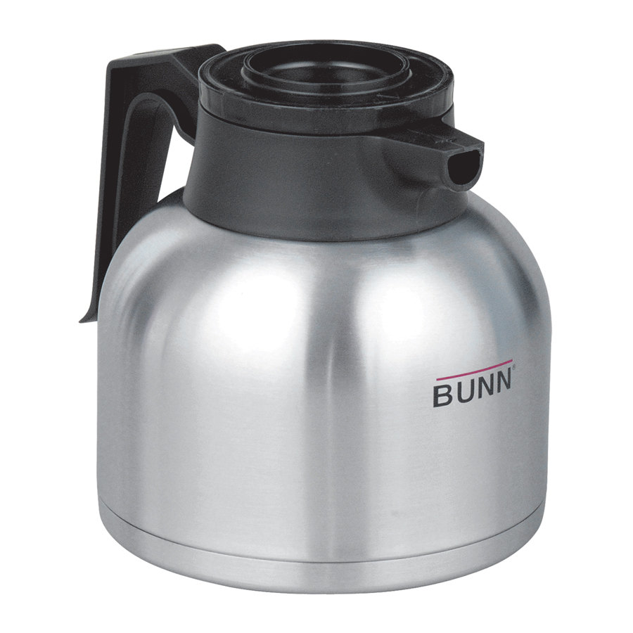 Bunn Coffee Maker Insulated Carafe : Zojirushi 64 oz. Stainless Steel Economy Thermal Carafe - Black Top (Bunn 40163.0000)