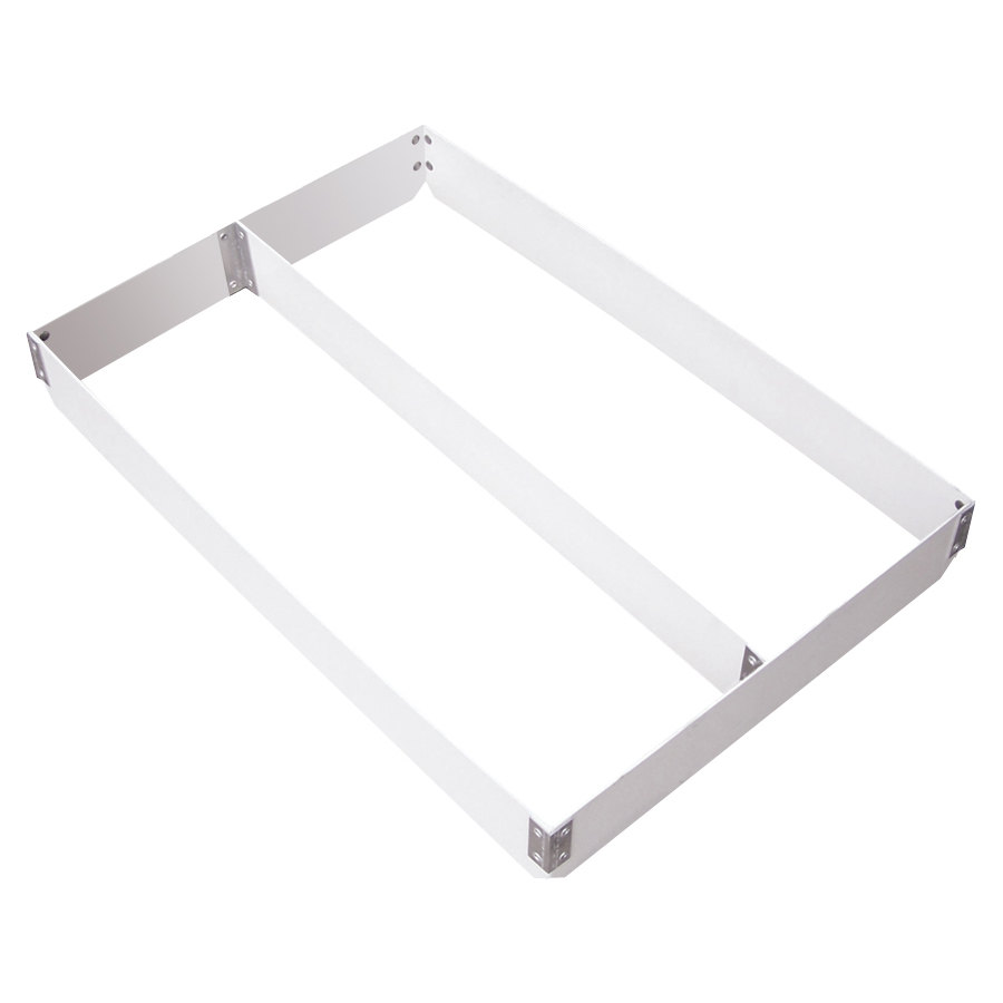"MFG Tray 176511-1537 Two-Section Full Size Fiberglass Pan Extender Divided Lengthwise - 4"" High"