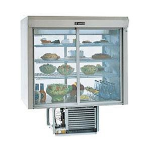 "Delfield F5SC48D 48"" Drop-In Refrigerated Display Case with See-Through Back - 19 Cu. Ft."