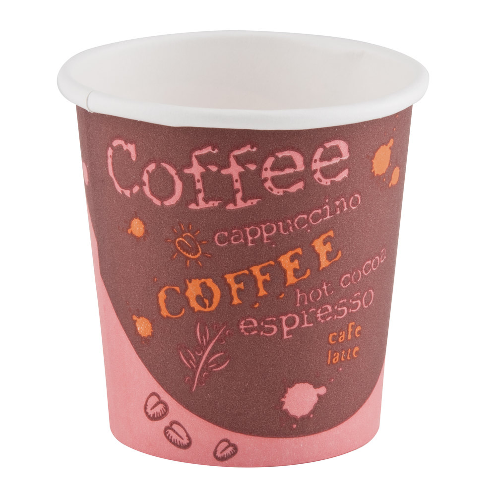 Choice 8 oz. Paper Hot Cup with Coffee Design 50 / Pack