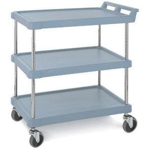 Metro BC1627-34BU Blue Utility Cart with Three Shelves 28 inch x 18 inch