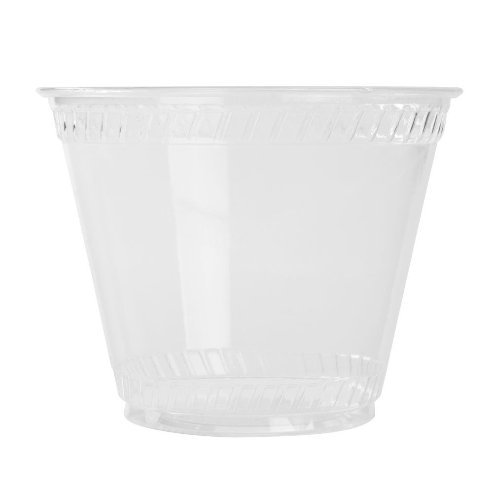 Fabri-Kal Greenware GC9OF 9 oz. Clear Plastic Squat Compostable Cold Cup 50 / Pack