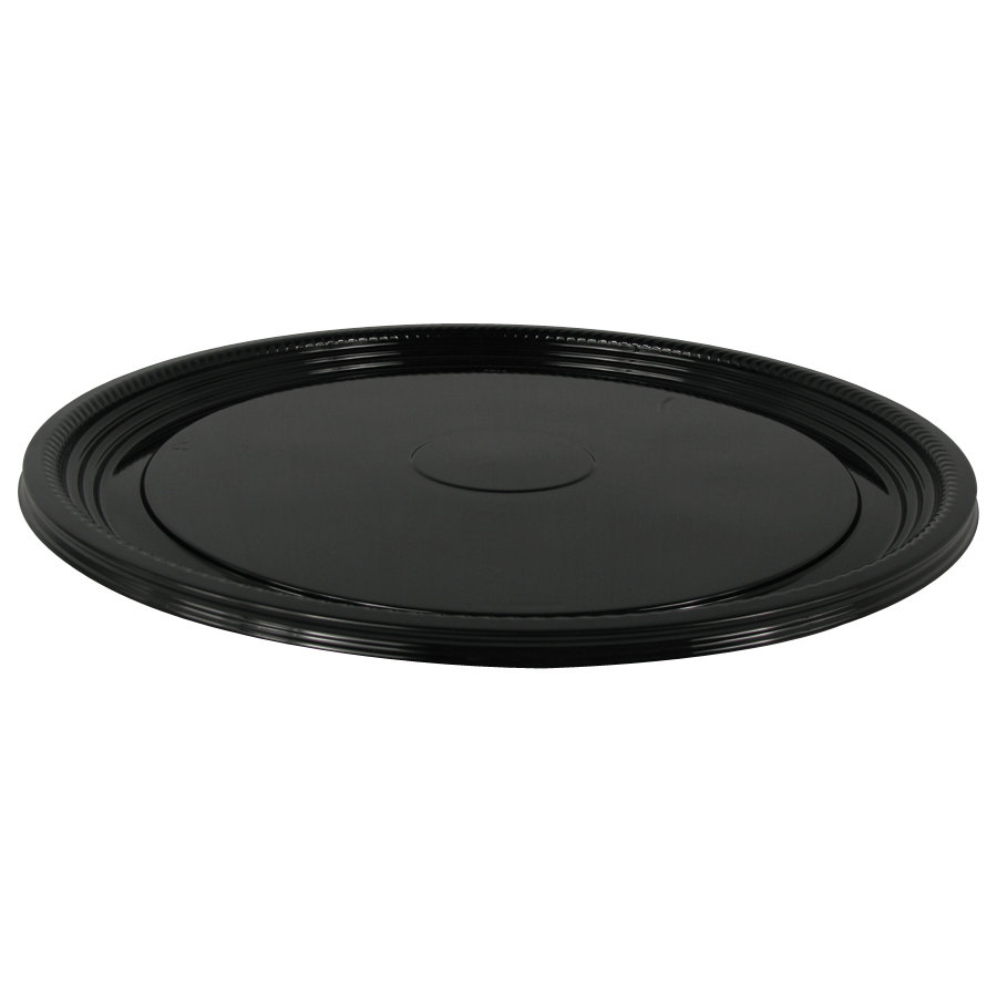 WNA Comet A516PBL Caterline Casuals 16 inch Round Catering Tray - Black 25/Case