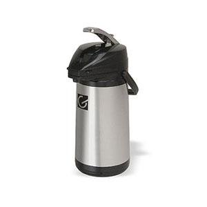 Grindmaster 70763-C 3 Liter Stainless Steel Lined Airpot with Lever - 6 / Case