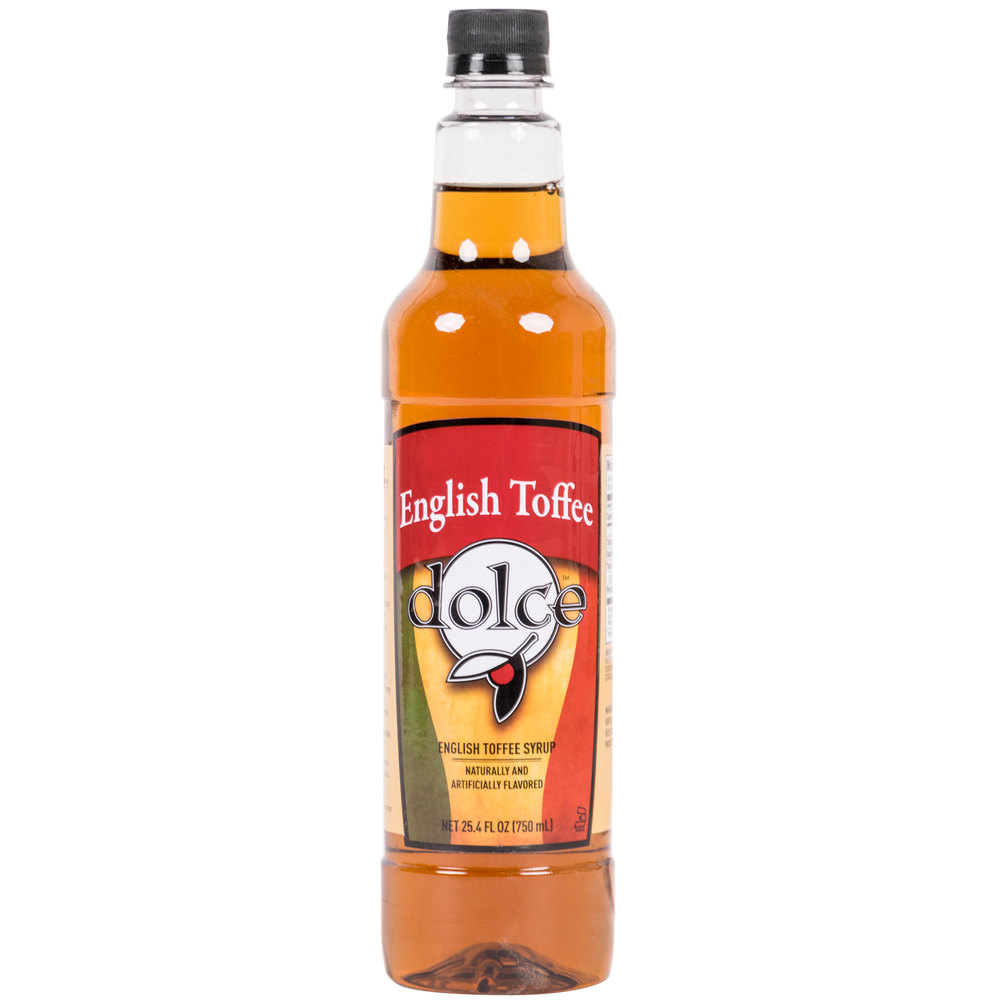 Dolce English Toffee Coffee Flavoring Syrup
