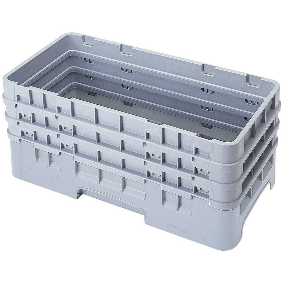 Cambro HBR712151 Soft Gray Camrack Half Size Open Base Rack with 3 Extenders