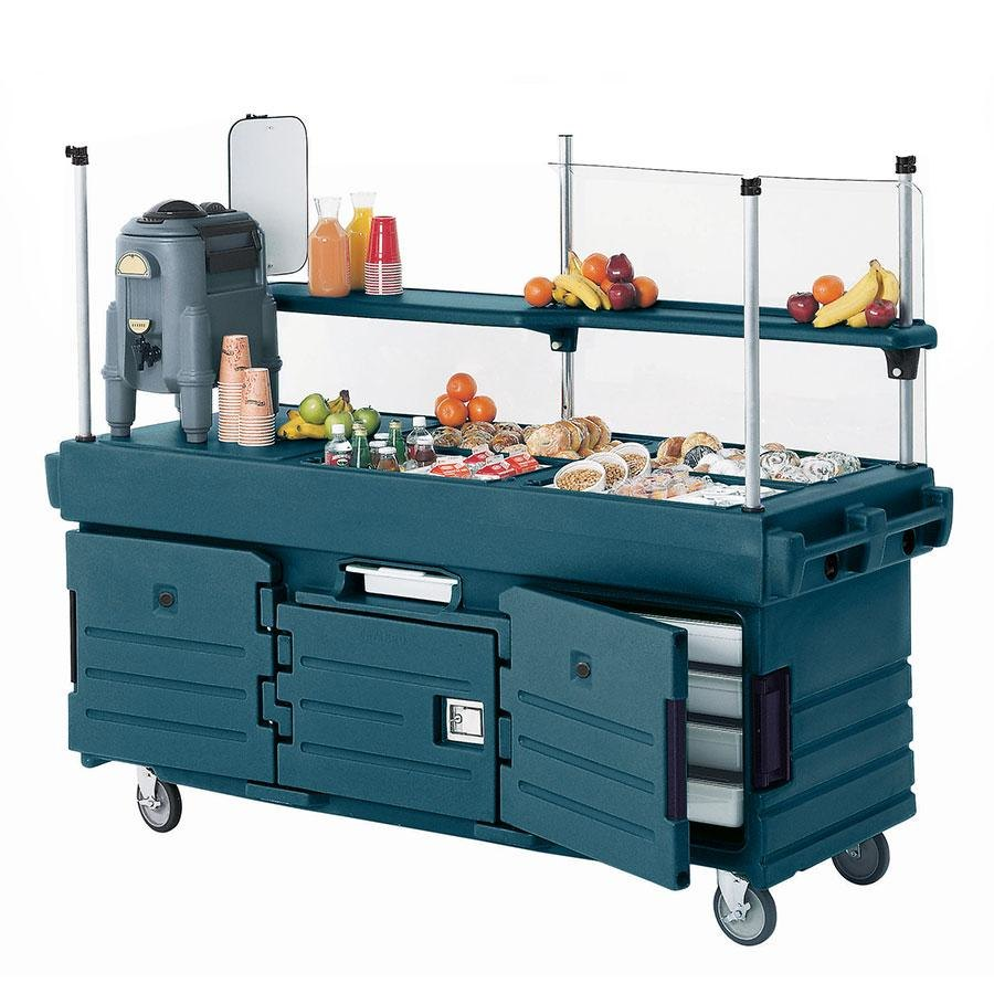 Cambro CamKiosk KVC856192 Granite Green Vending Cart with 6 Pan Wells