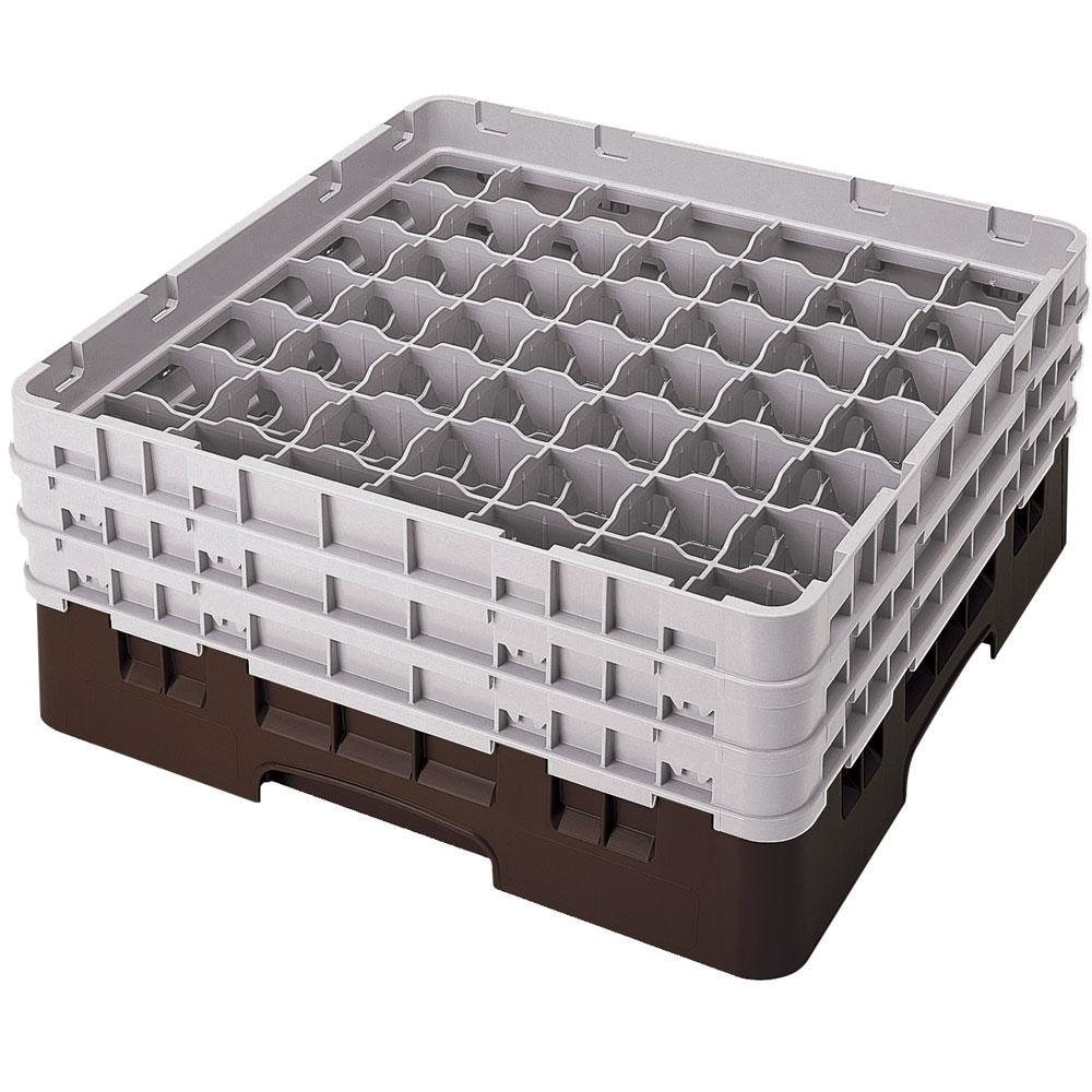 "Cambro 49S1114167 Brown Camrack 49 Compartment 11 3/4"" Glass Rack"