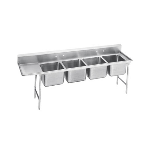 Stainless Sink Drainboard : ... Four Compartment Stainless Steel Sink with One Drainboard - 111