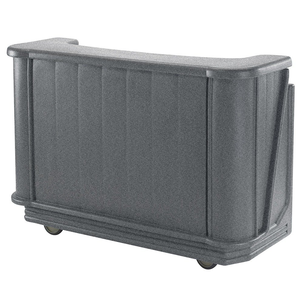 "Cambro BAR650191 Granite Gray Cambar 67"" Portable Bar with 7-Bottle Speed Rail"