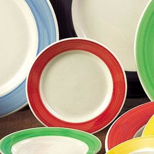 CAC R-3-R Rainbow 12 oz  Red Rolled Edge Stoneware Pasta / Soup Bowl -  24/Case