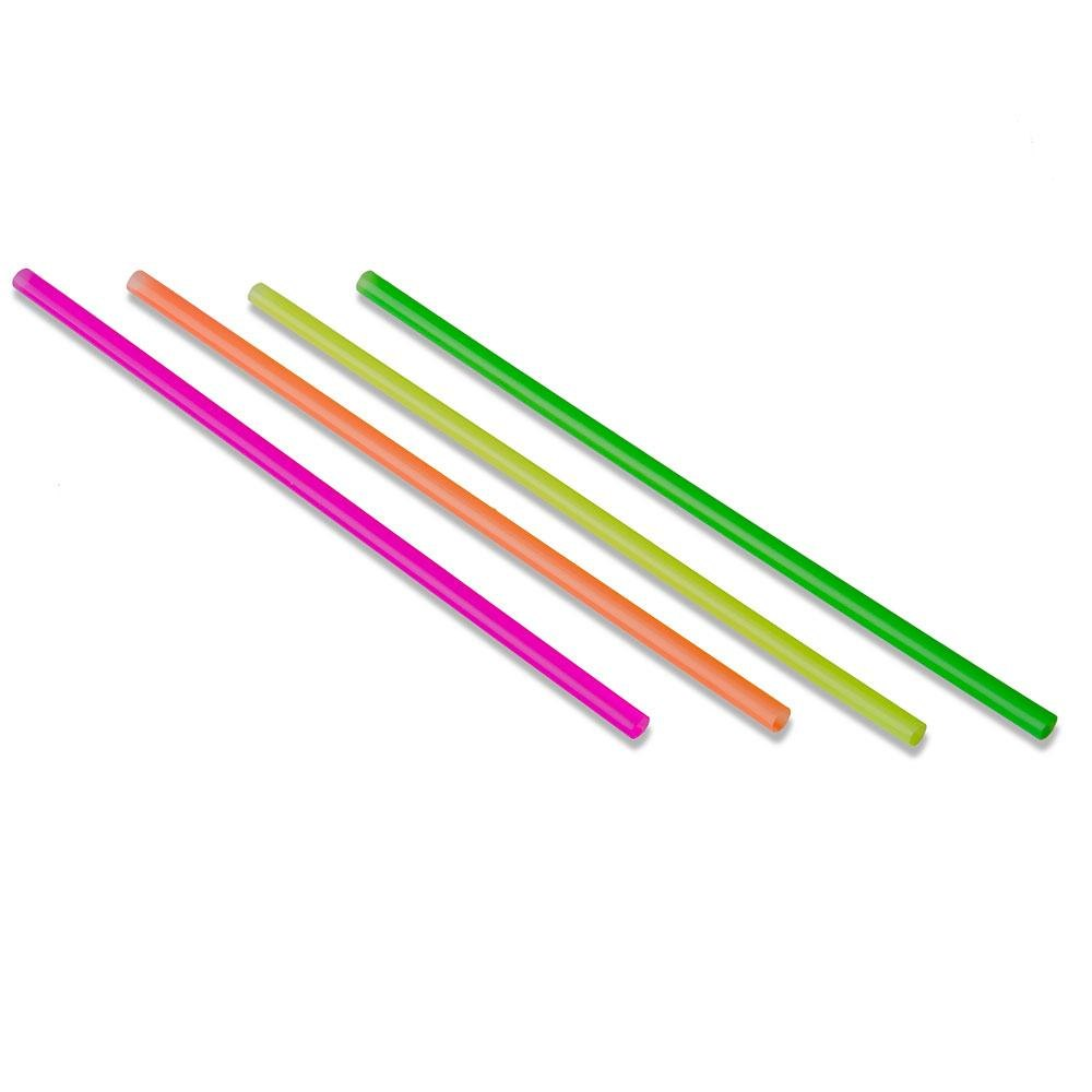 Choice 7 3/4 inch Jumbo Unwrapped Neon Soda Straw - 250 / Box