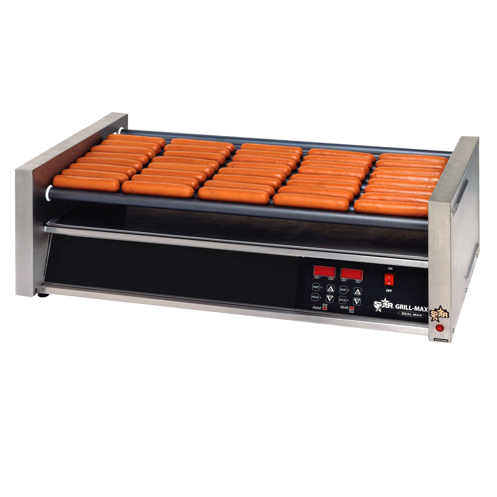 Star Grill Max Pro 50SCE 50 Hot Dog Roller Grill with Electronic Controls and Duratec Non-Stick Rollers