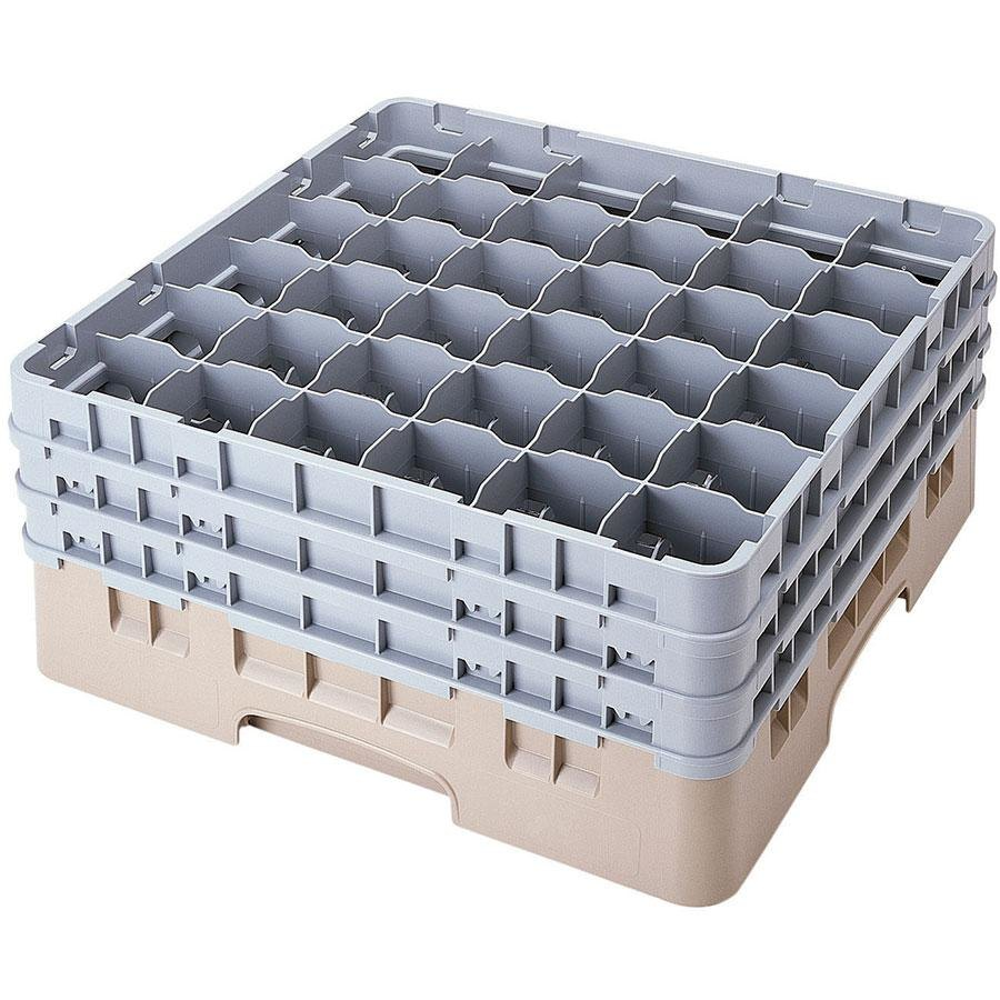 "Cambro 36S638184 Beige Camrack 36 Compartment 6 7/8"" Glass Rack"