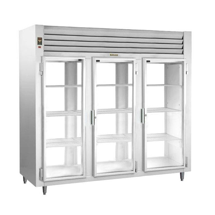 Traulsen Rht332nput Fhg Stainless Steel Three Section Glass Door