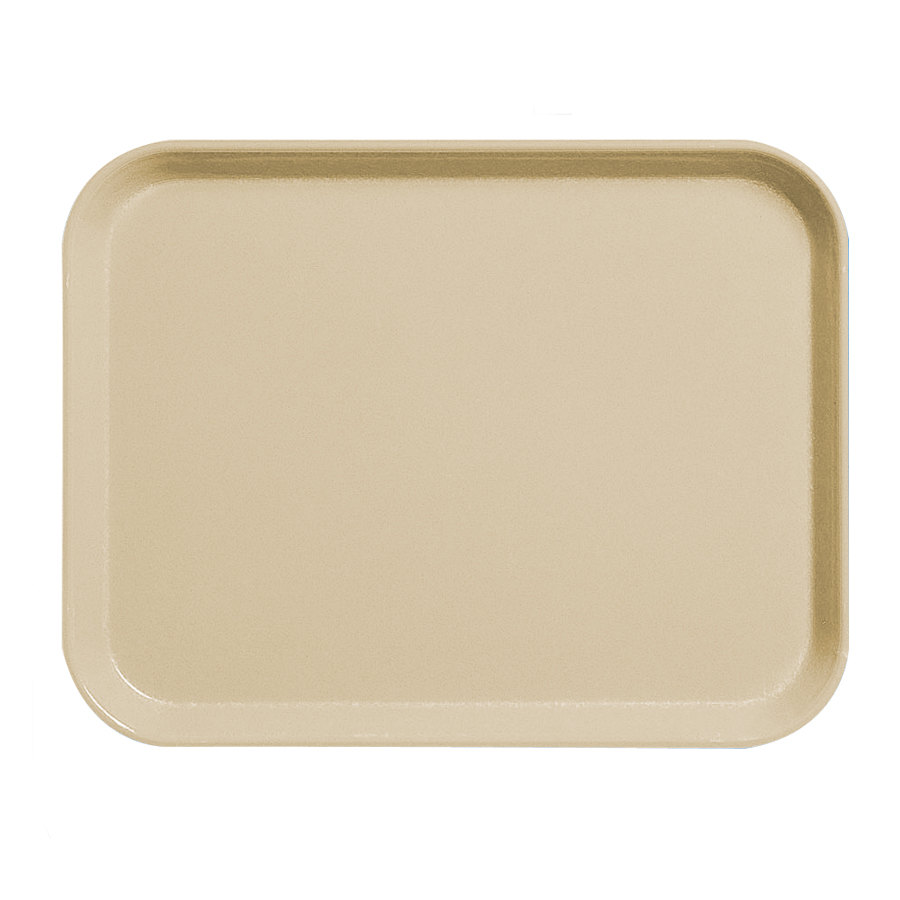 "Cambro 1418CL161 Tan 14"" x 18"" Camlite Tray 12 / Case"