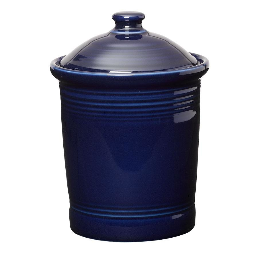 Homer Laughlin 571105 Fiesta Cobalt Blue Small 1 Qt. Canister with Cover - 2 / Case