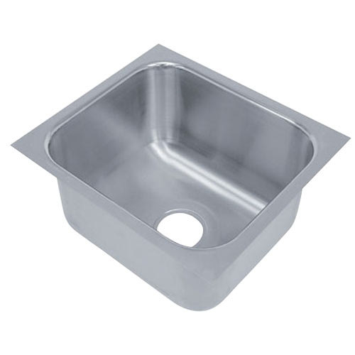 "Advance Tabco 2424A-14A 1 Compartment Undermount Sink Bowl 24"" x 24"" x 14"""