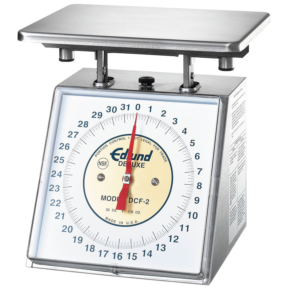 "Edlund DCF-2 Five Star Series Heavy-Duty 32 oz. Portion Scale with 7"" x 8 3/4"" Platform"