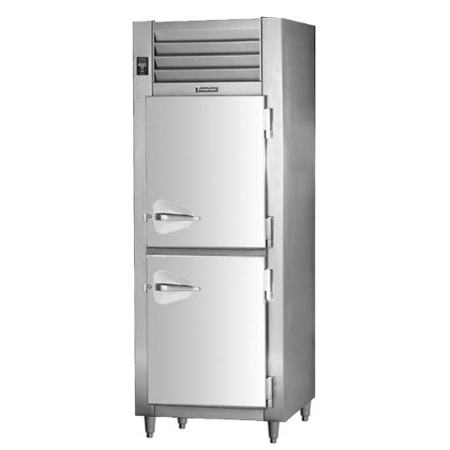 Traulsen RHT132DUT-HHS Stainless Steel 17.7 Cu. Ft. Half Door One Section Narrow Reach In Refrigerator - Specification Line