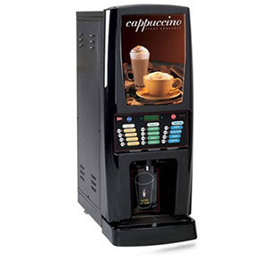 Cecilware GB5MF-IT-LD Multi-Flavor Five Hopper Powdered Cappuccino Dispenser with Illuminated Front - 120V