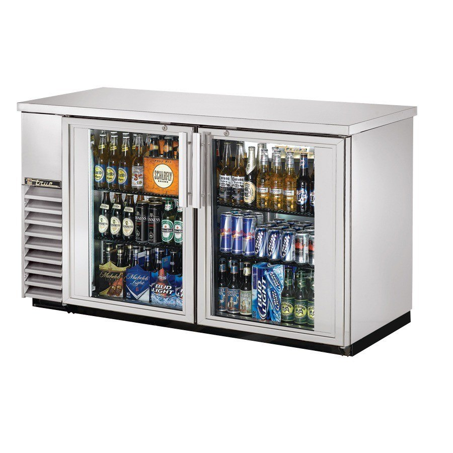 "True Refrigeration True TBB-24-60G-S 61"" Back Bar Cooler Stainless Steel with 2 Glass Doors - 24"" Deep at Sears.com"