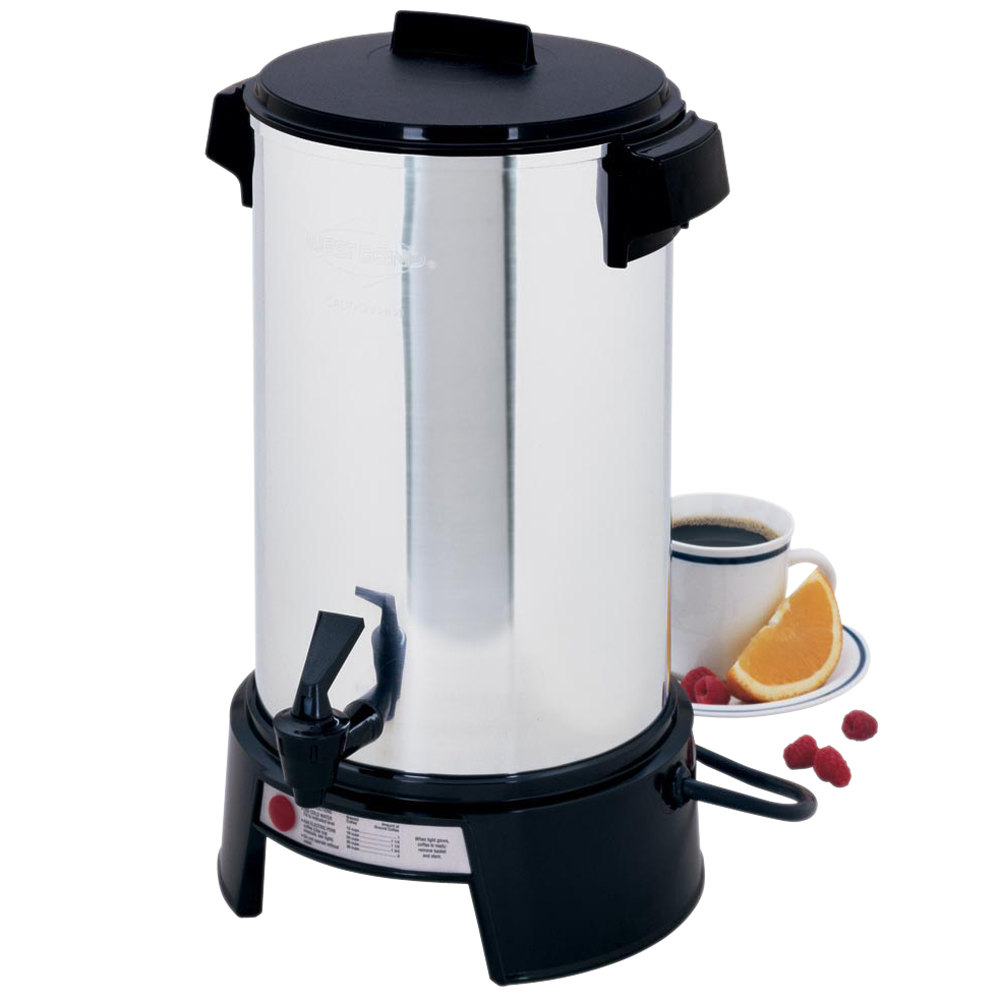 West Bend 43536 36 Cup (1.4 Gallons) Aluminum Coffee Urn
