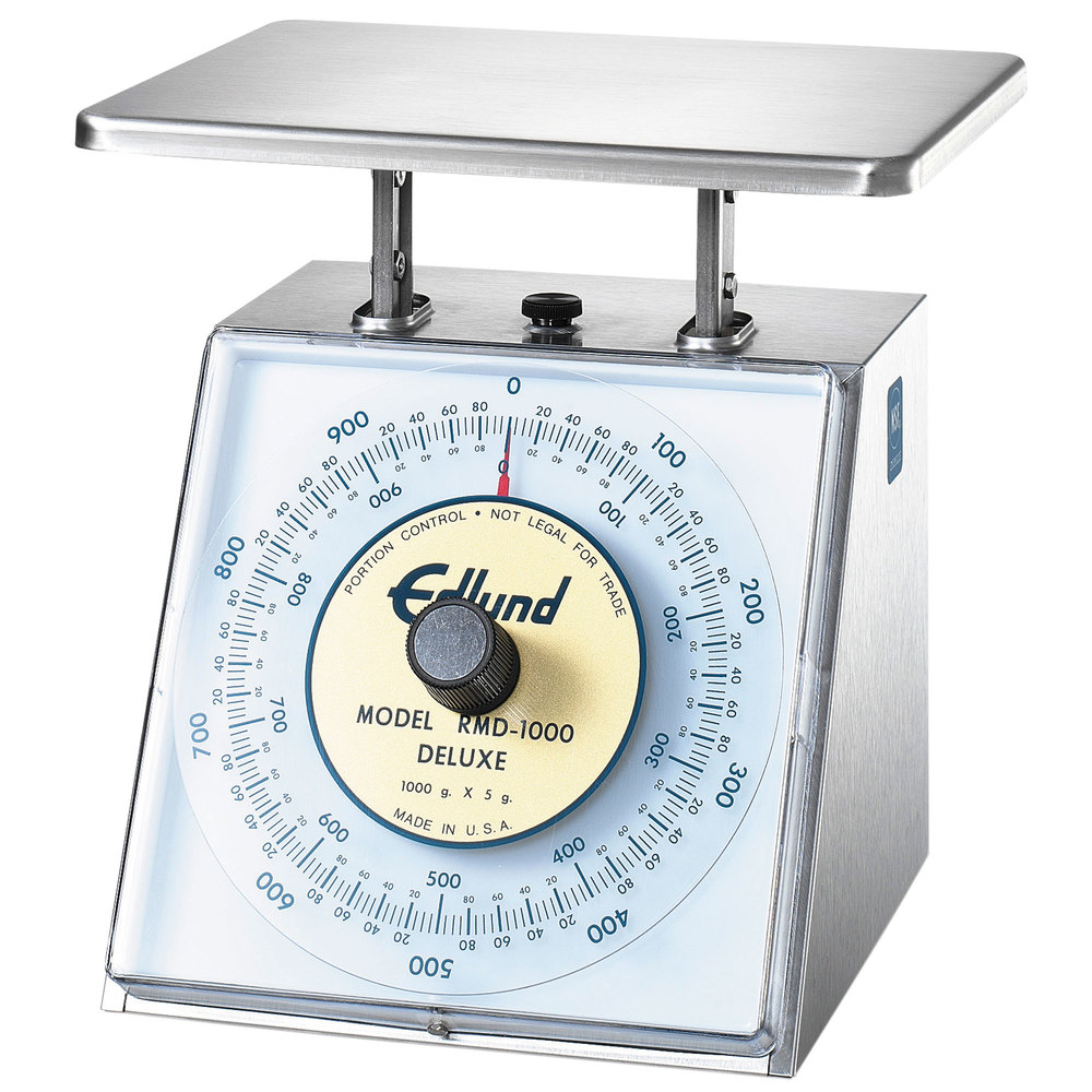 "Edlund RMD-1000 Four Star Series Deluxe 1000 g Metric Portion Scale with 8 1/2"" x 9"" Platform"