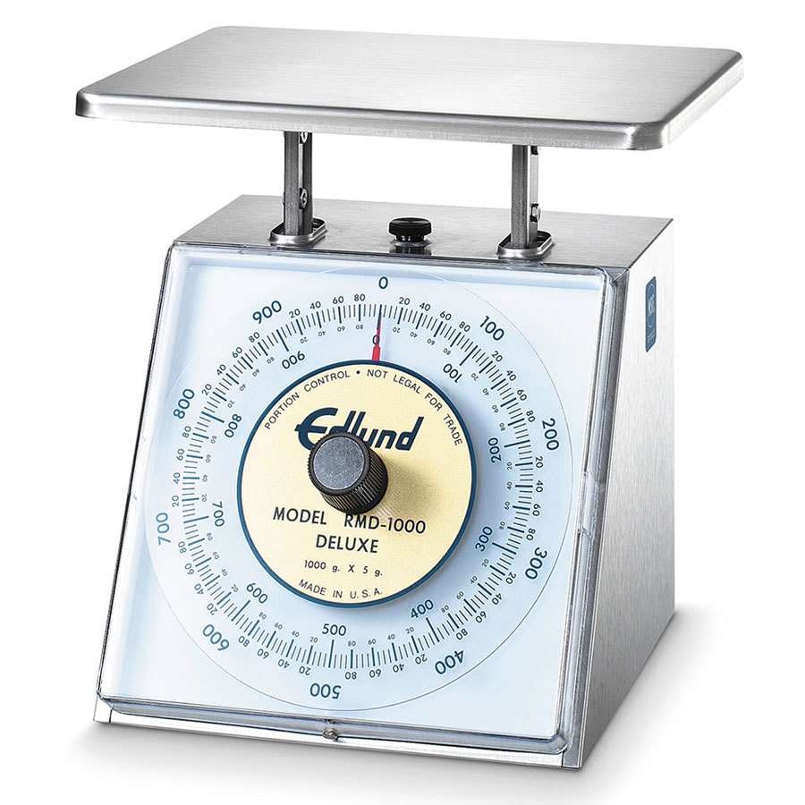 Edlund RMD-1000 Four Star Series 1000 g. Metric Mechanical Portion Scale - 8 1/2 inch x 9 inch