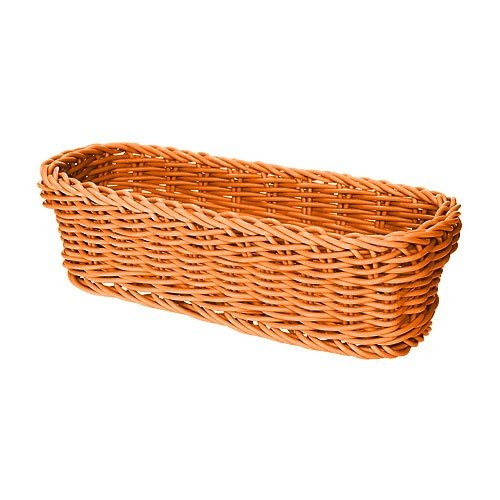 "GET WB-1507-OR 10"" x 4 3/4"" x 3"" Designer Polyweave Orange Rectangular Basket - 12 / Case"