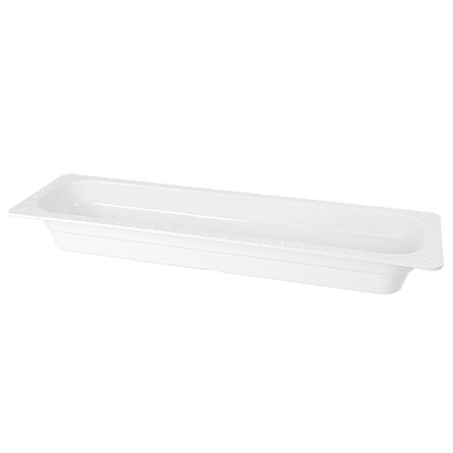 "GET ML-158-WH White Melamine 1/2 Size Long 2 1/2"" Deep Food Pan - 6/Case"