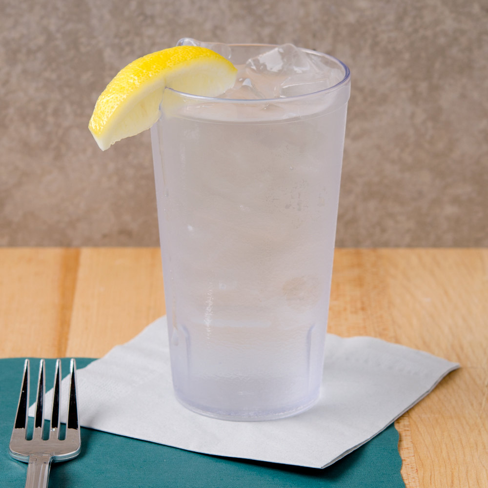 GET 6616-1-6-CL 16 oz. Stackable Clear Textured Tumbler 72 / Case
