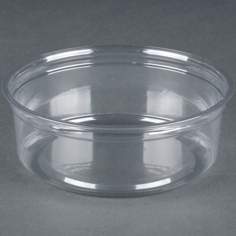 Fabri kal alur rd8 8 oz recycled customizable clear pet for Recycled plastic containers