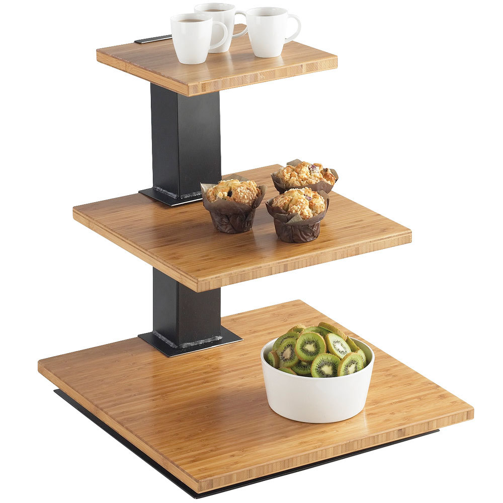 Wood Elevation For Buffet : Cal mil elevation tier black riser frame with