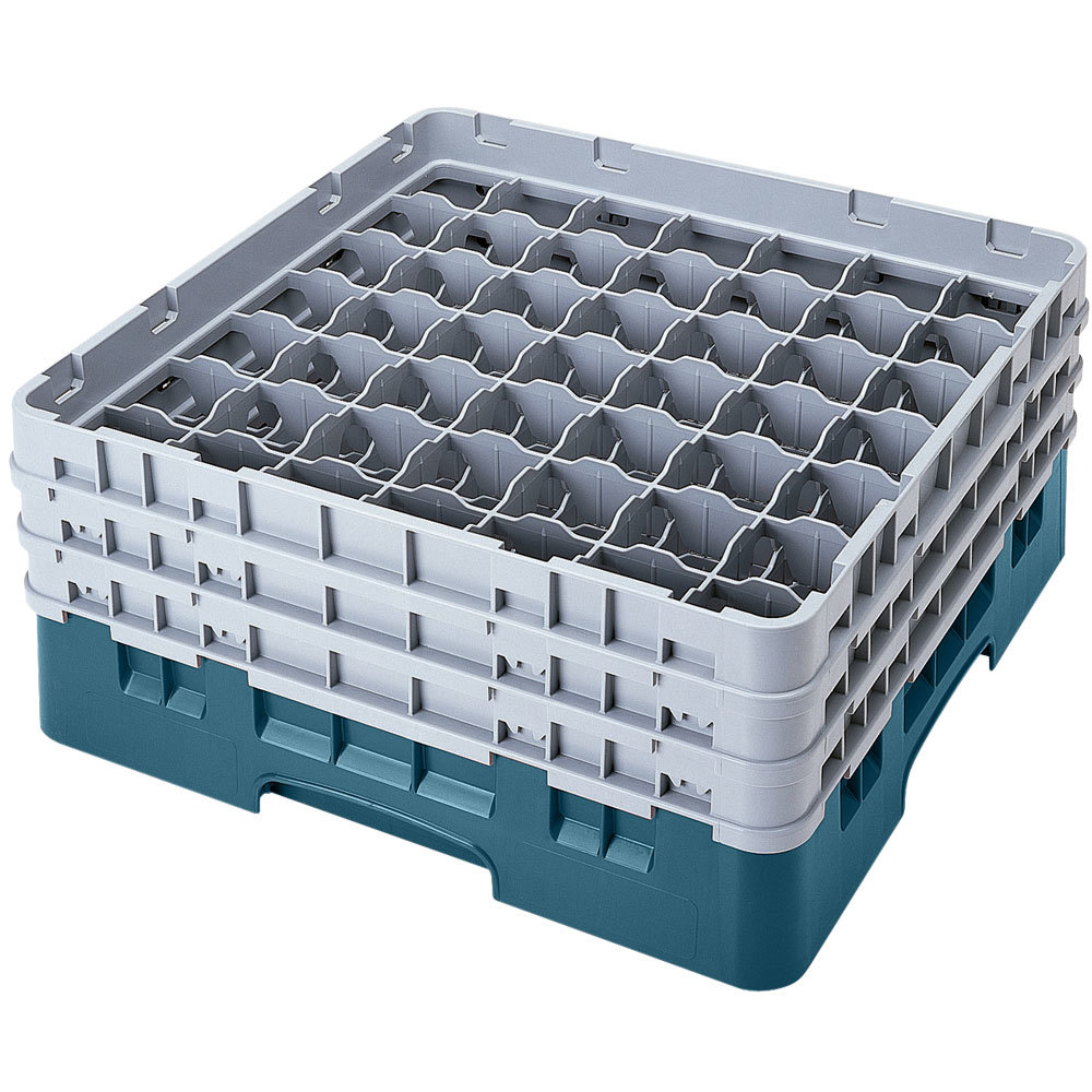 Cambro 49s638414 Teal Camrack Customizable 49 Compartment
