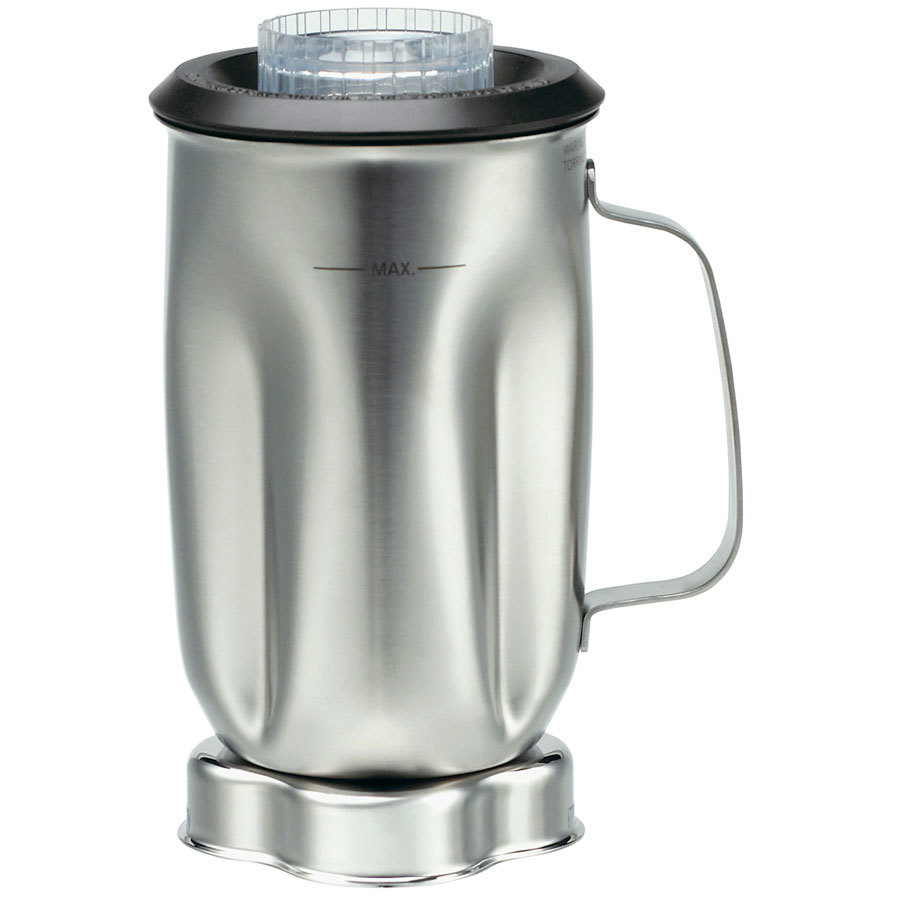Stainless Steel Blender ~ Waring cac oz stainless steel container with lid and