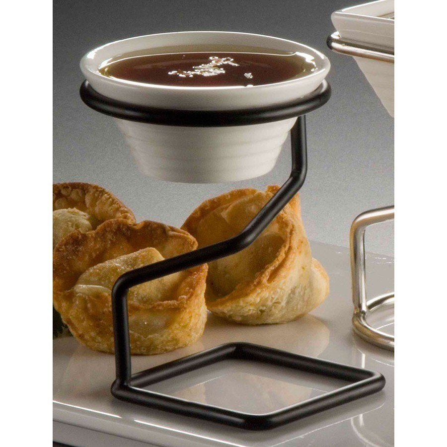 American Metalcraft RAB22 Black Wrought Iron Sauce Cup Stand