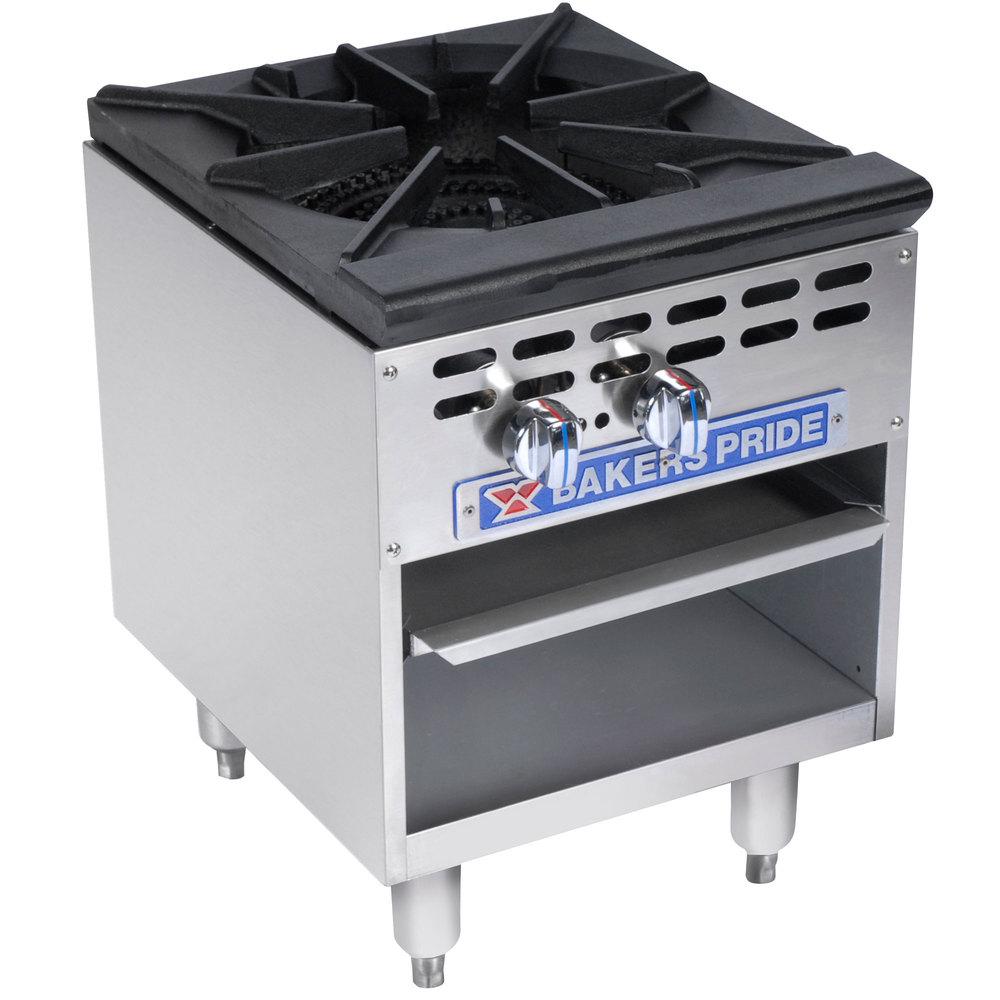 Bakers Pride Restaurant Series BPSP-18-2 Natural Gas Single Burner ...