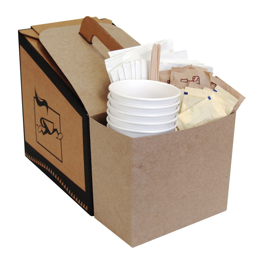 LBP 7139 Coffee Take Out Container Service Caddy for 96 oz. Take Out Containers - 100/Case