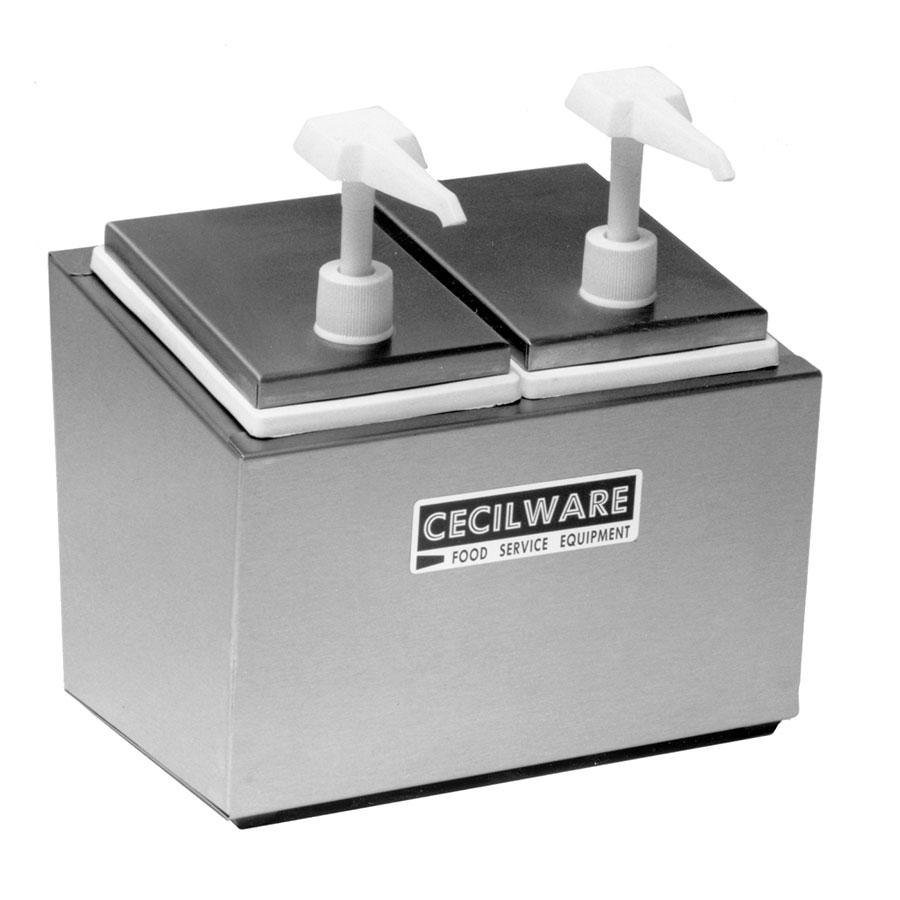Cecilware 244E Economy Pumps Stainless Steel Condiment