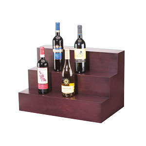 Cal Mil 1034-52 24 inch x 15 inch 3 Step Wood Bottle Display