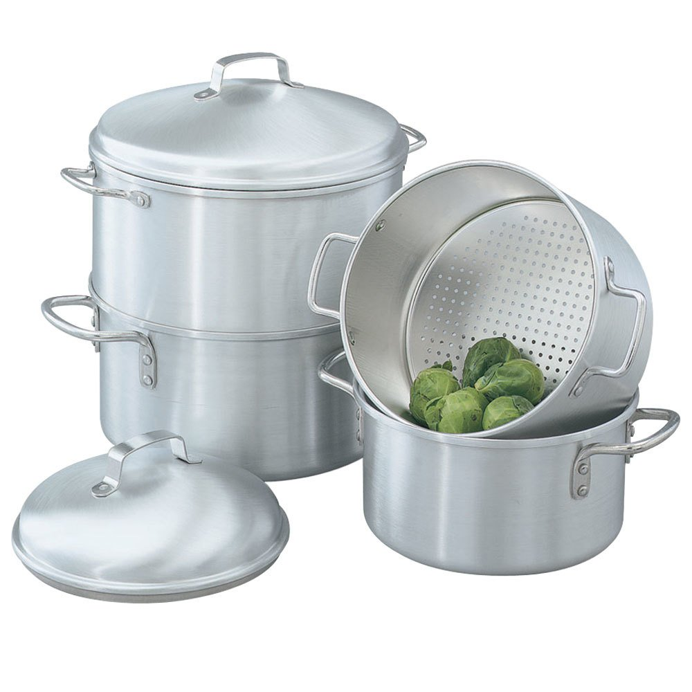 vollrath 68122 wear ever 3 qt rice vegetable steamer set